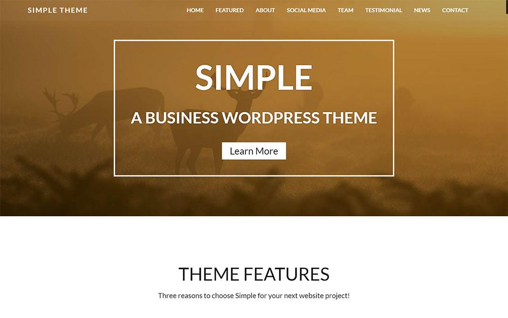 Simple: Business Responsive WordPress Site