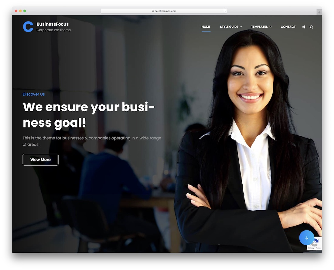 businessfocus free wordpress business theme