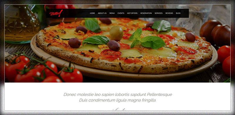 버터 - 전문 식당, 제과점, 커피, 와이너리 및 피자 WordPress Theme