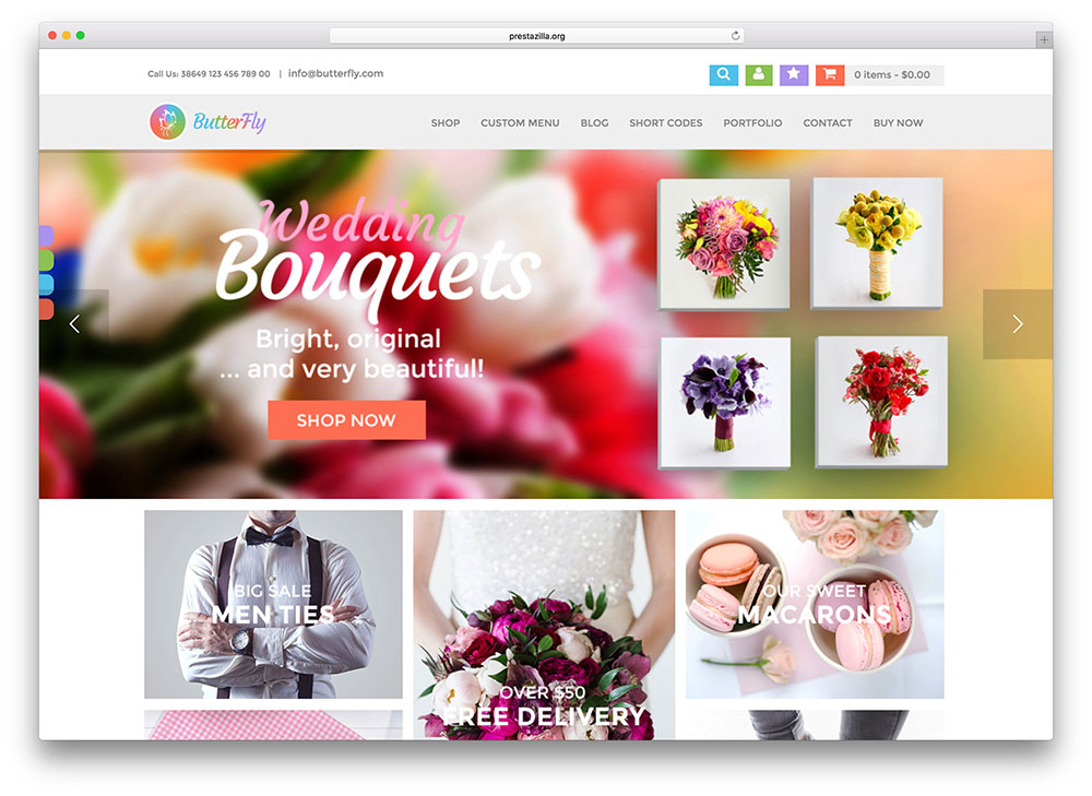 butterfly - colorful WooCommerce theme