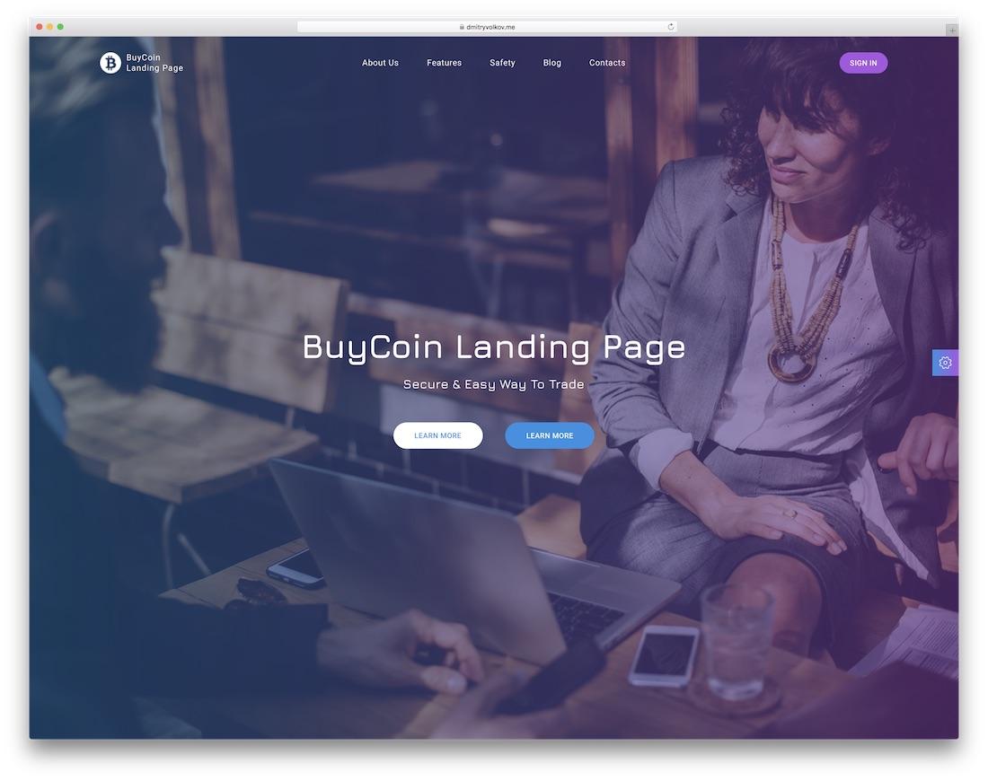buycoin interactive website template