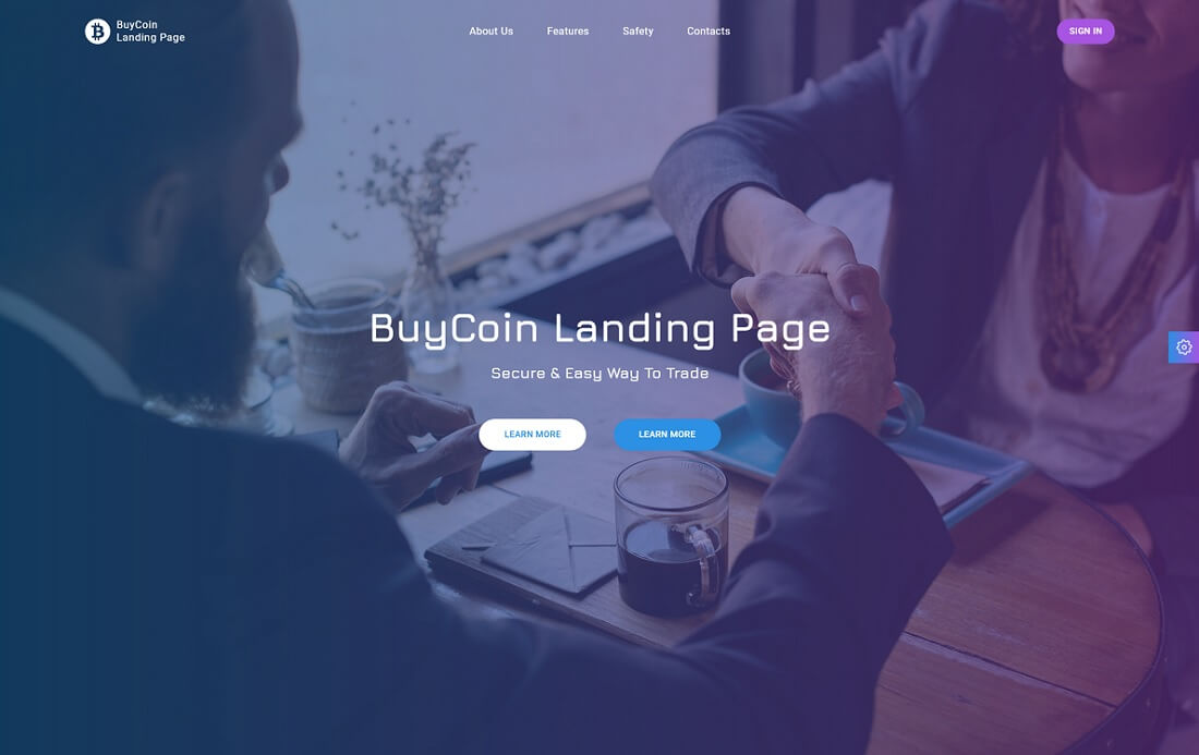 buycoin cryptocurrency website template