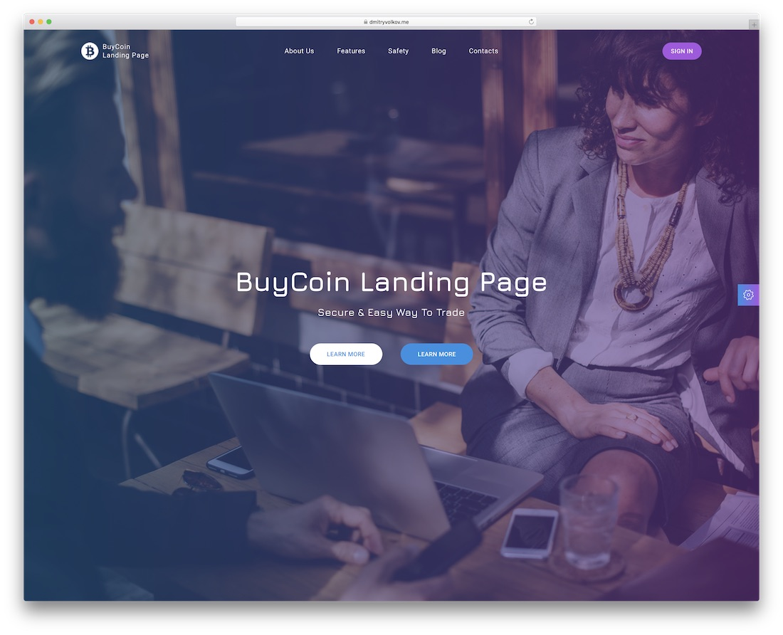 buycoin financial website template