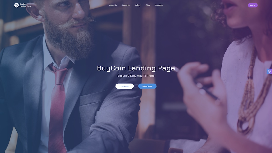 buycoin mobile-friendly website template