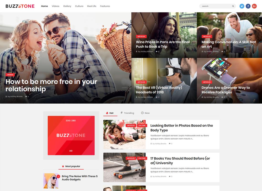 Buzz Stone - Magazine & Viral Blog WordPress Theme