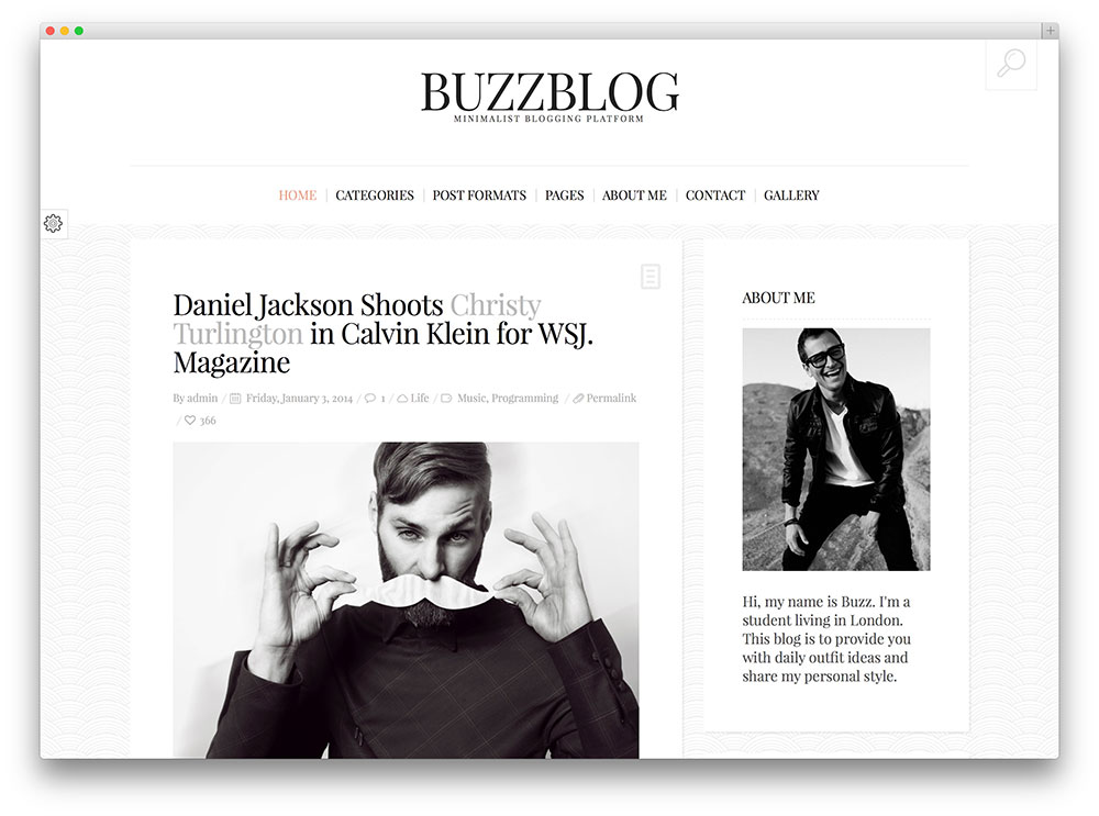 buzzblog minimal blog theme