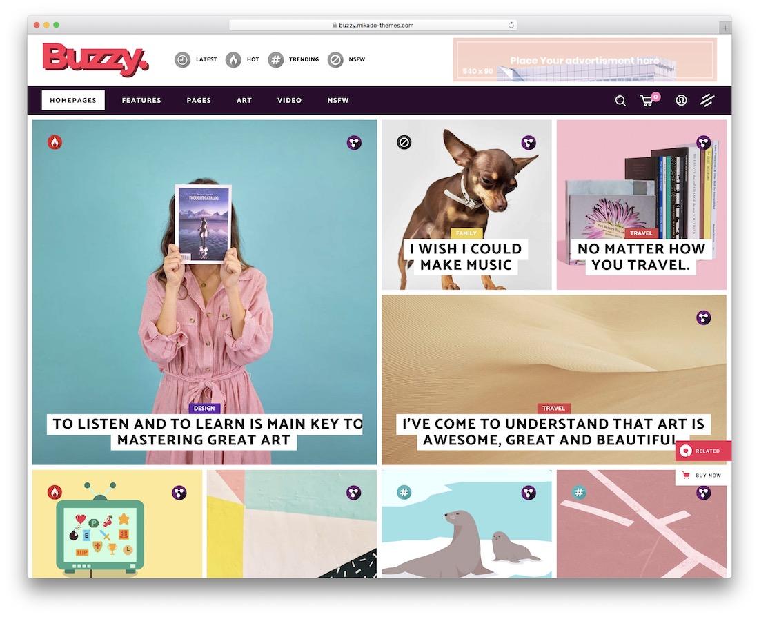 buzzy viral news wordpress theme