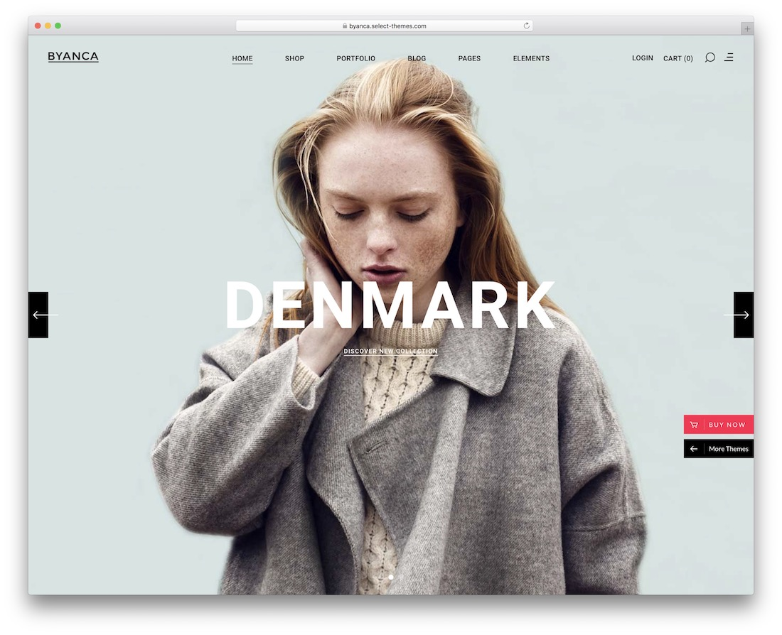 byanca ecommerce wordpress theme