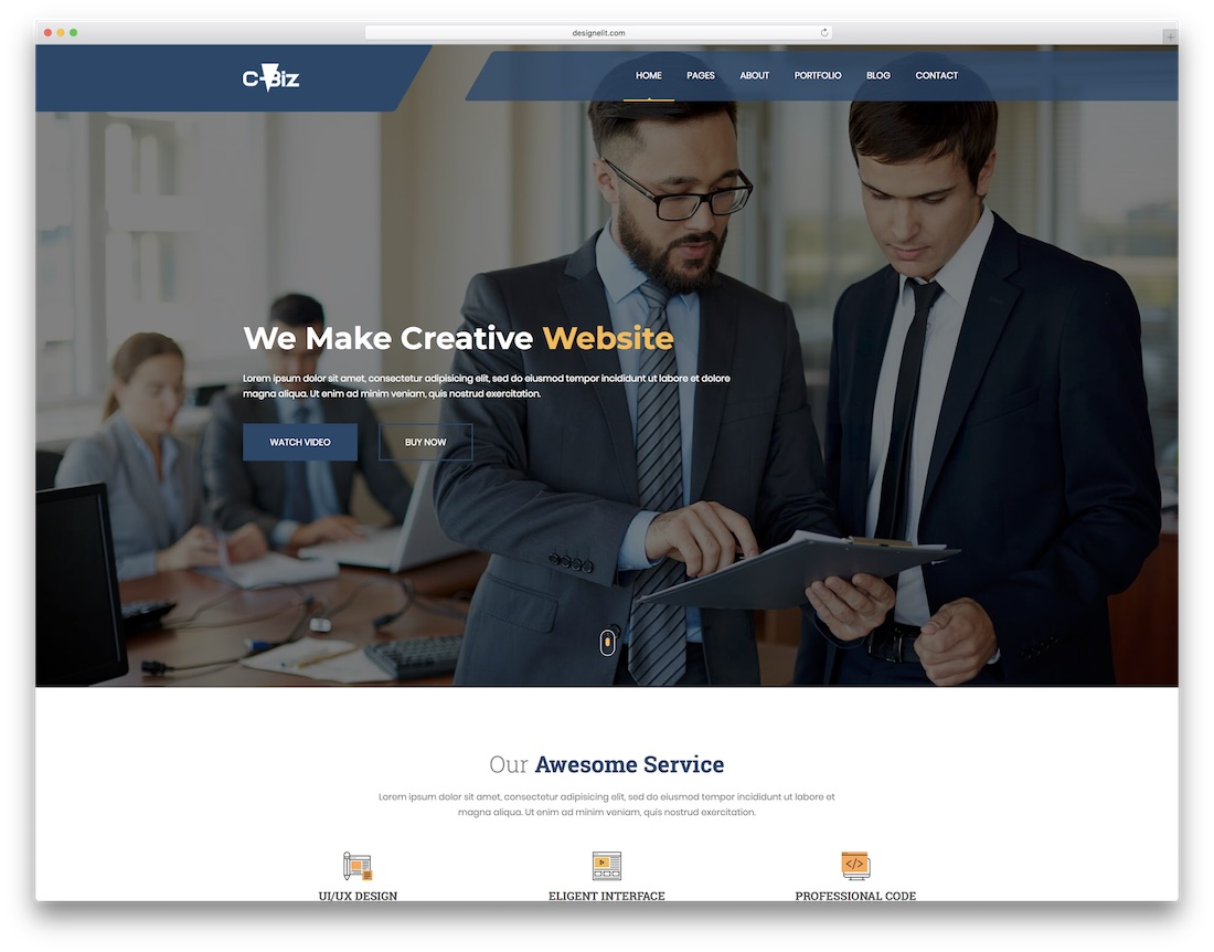 c-biz mobile friendly website template