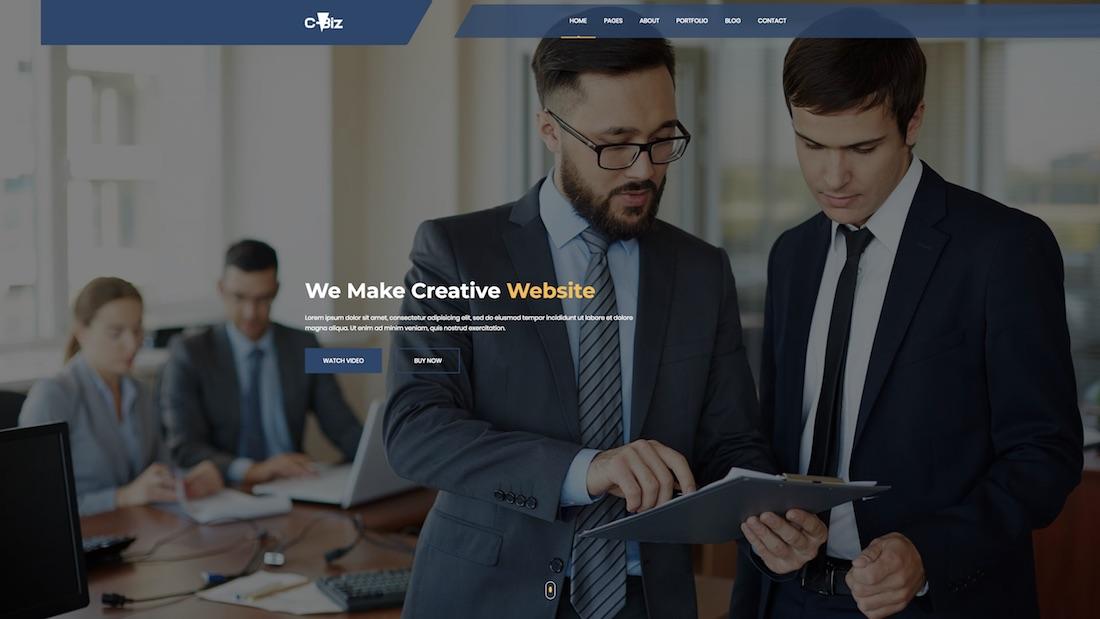 c-biz mobile-friendly website template
