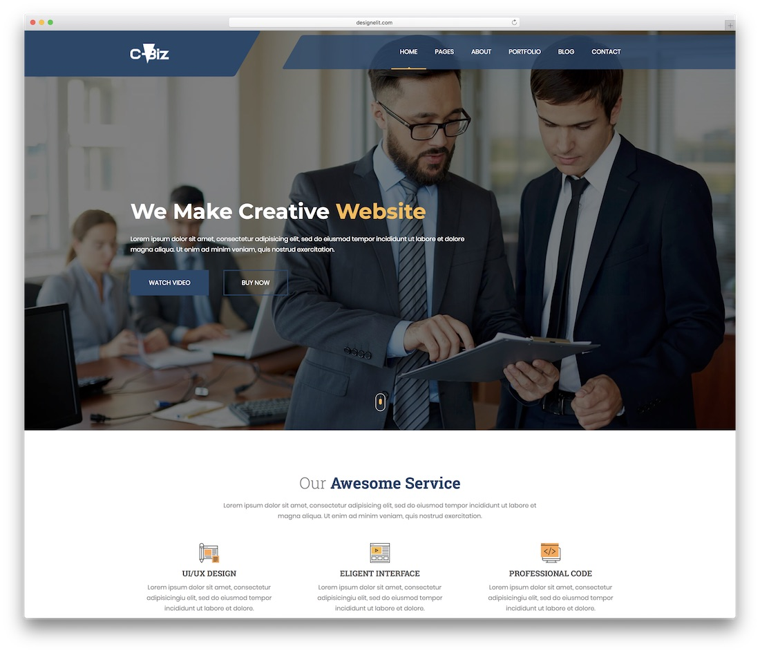 c-biz website template