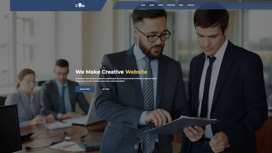 c-biz website template