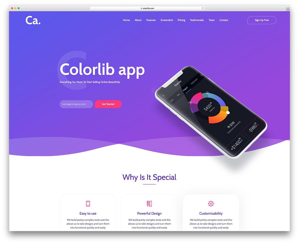 ca-app free mobile-friendly website template