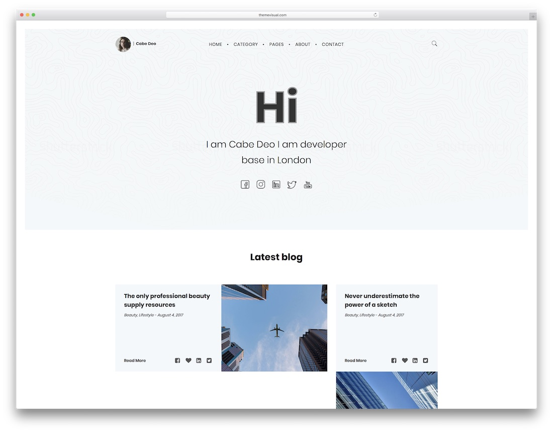 cabe simple bootstrap template