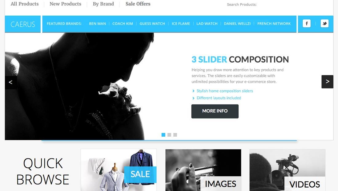 e-commerce Adobe Muse templates