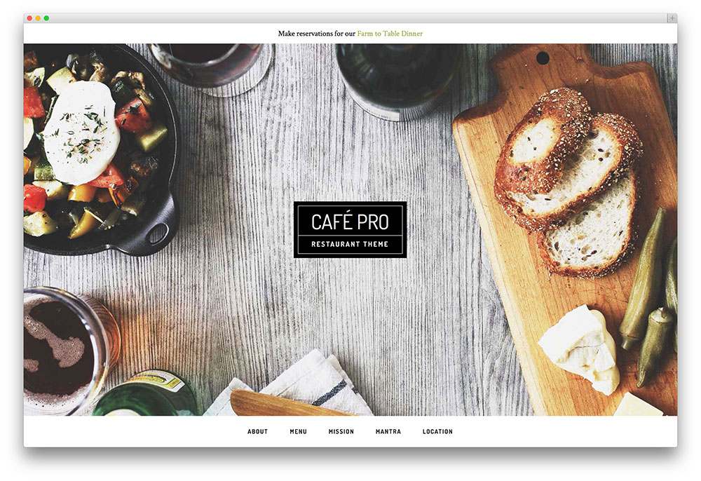cafe pro - genesis restaurant theme