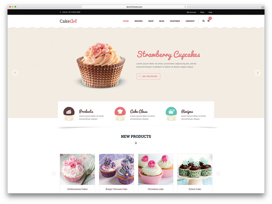cakeart-minimal-bakery-wordpress-theme