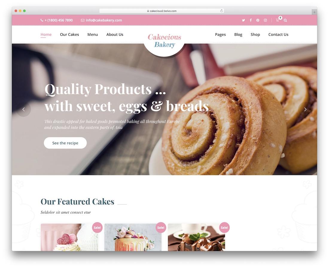cakecious wordpress theme