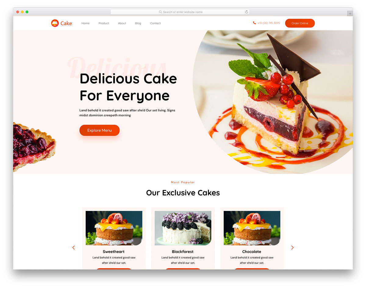 Cakes Colorlib Template