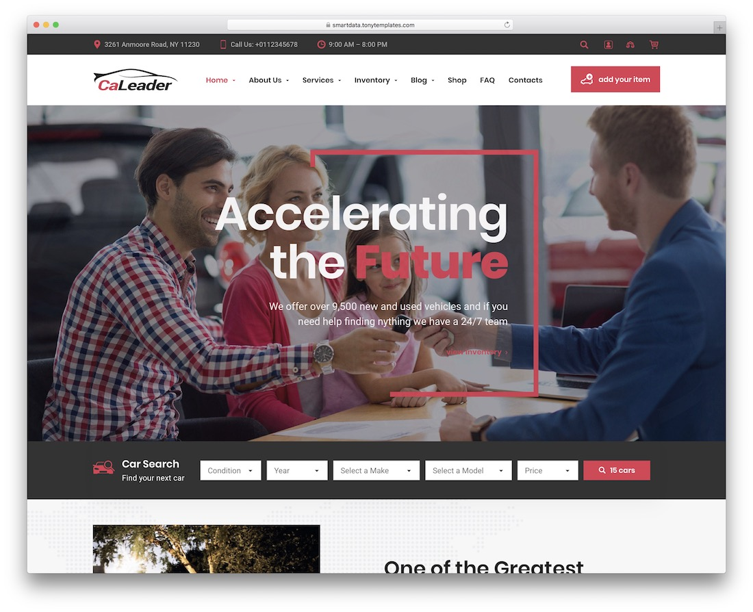 caleader auto service wordpress theme