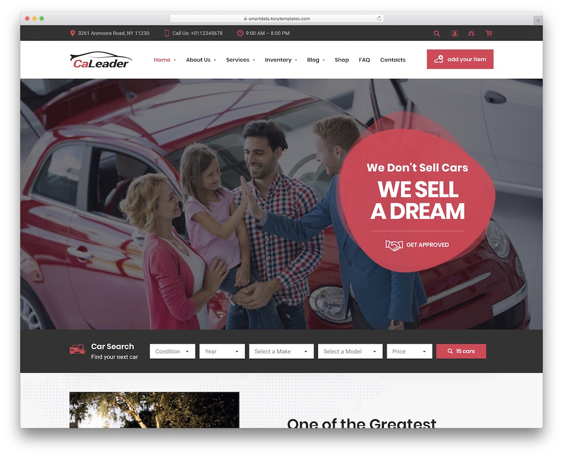 caleader car dealer wordpress theme