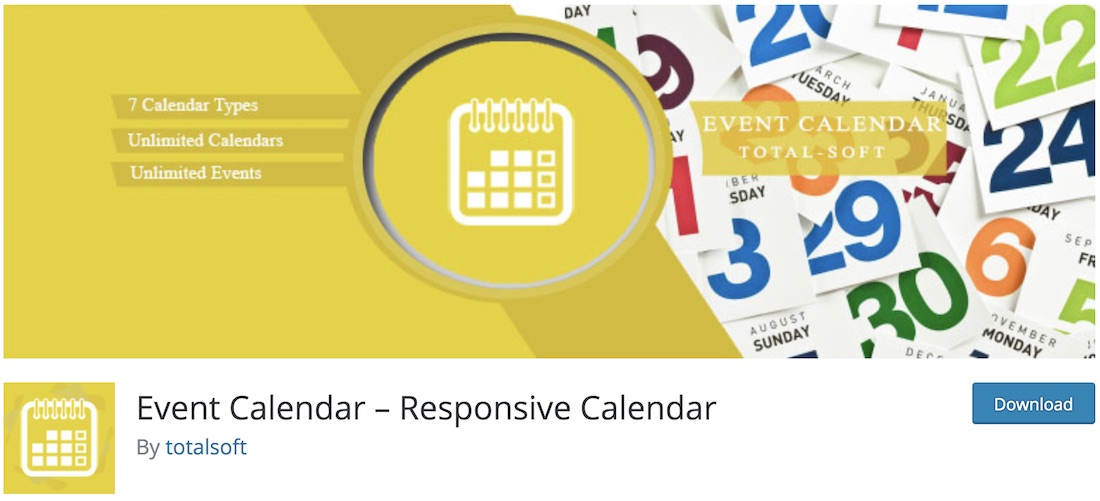 calendar event wordpress plugin