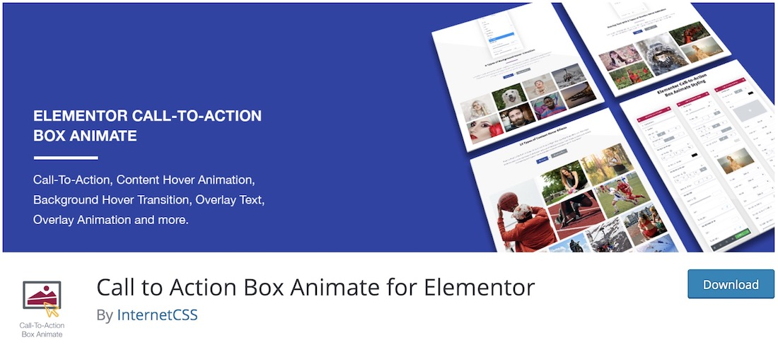 call to action box animate for elementor wordpress plugin