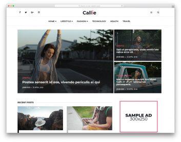 Callie Free Template