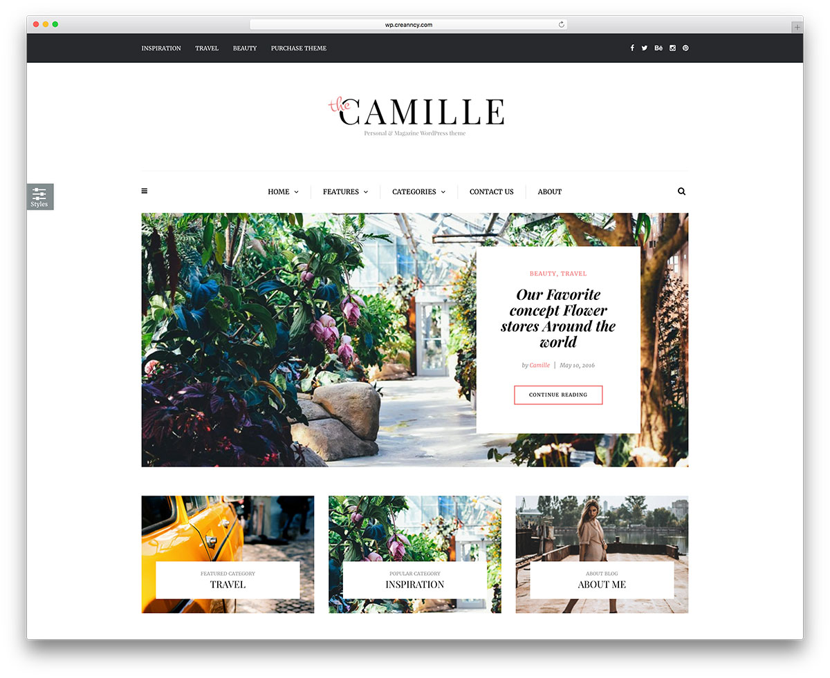 camille-simple-wordpress-blog-theme