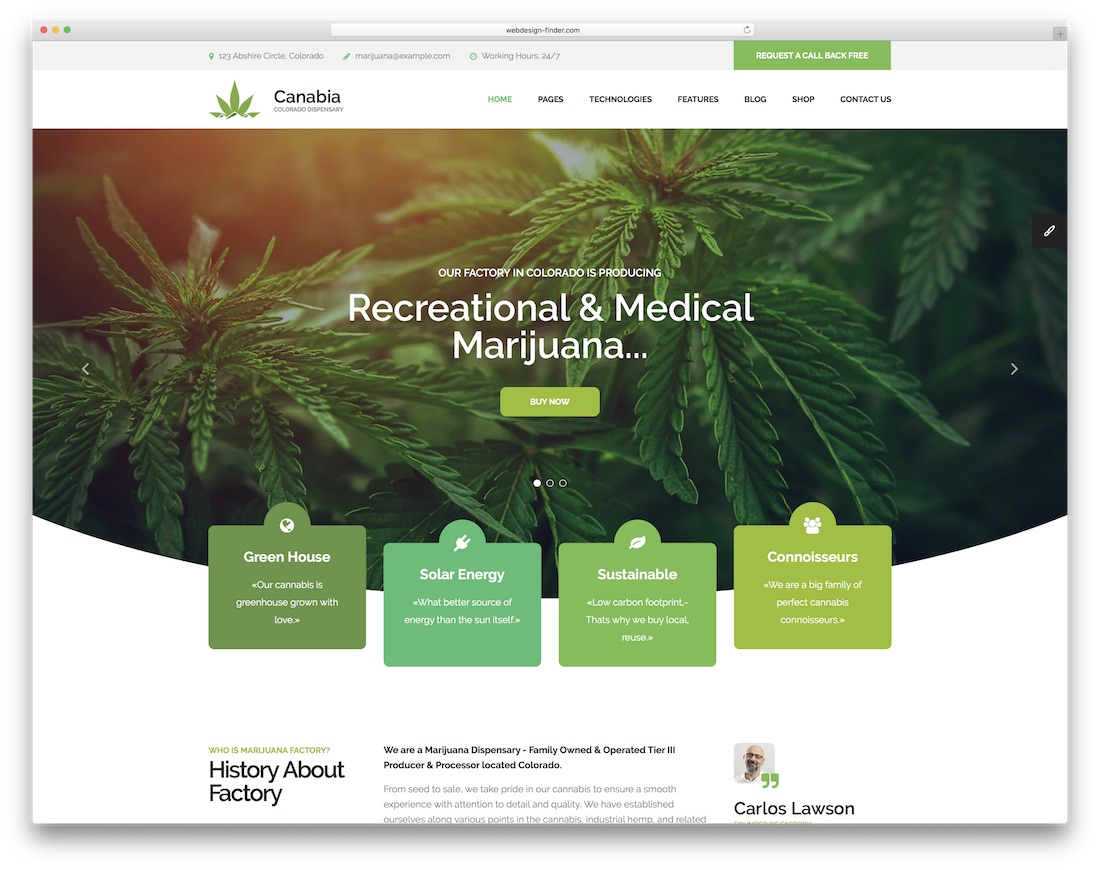 canabia doctor website template