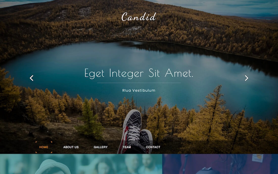 candid free fashion website template
