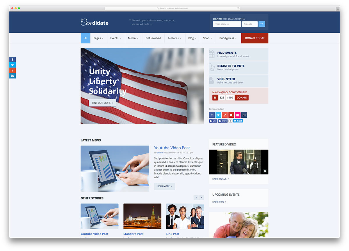 Best Political WordPress Themes for Politicians 2018 - colorlib