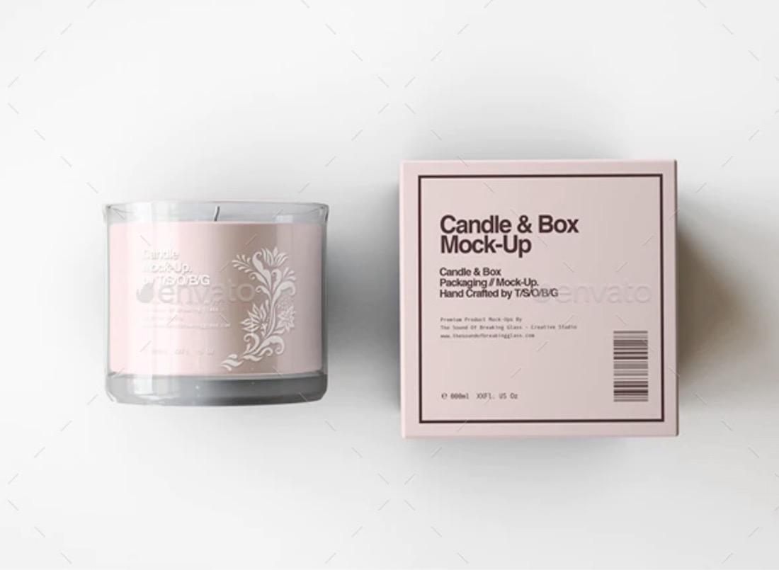 candle box mockup