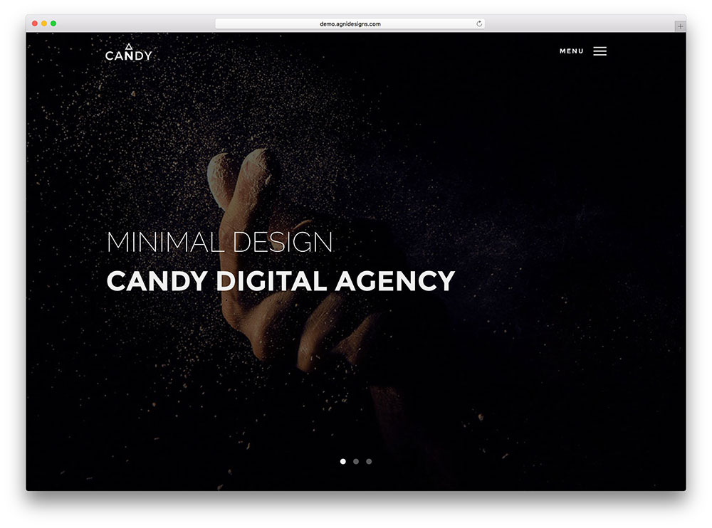 candy - fullscreen portfolio theme
