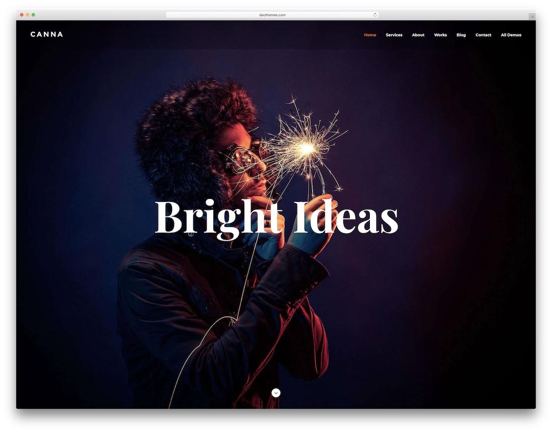 canna freelancer website template