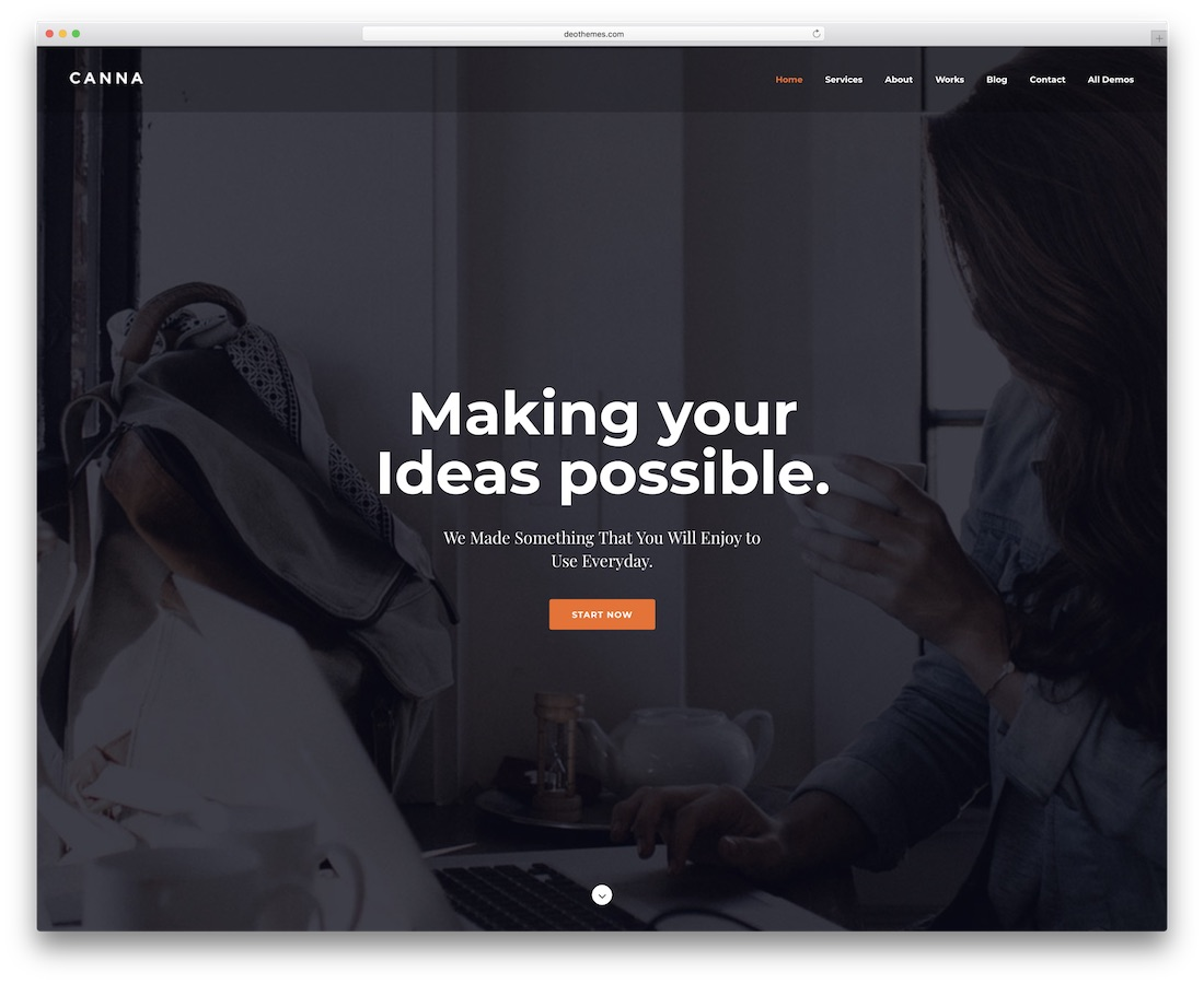canna creative website template