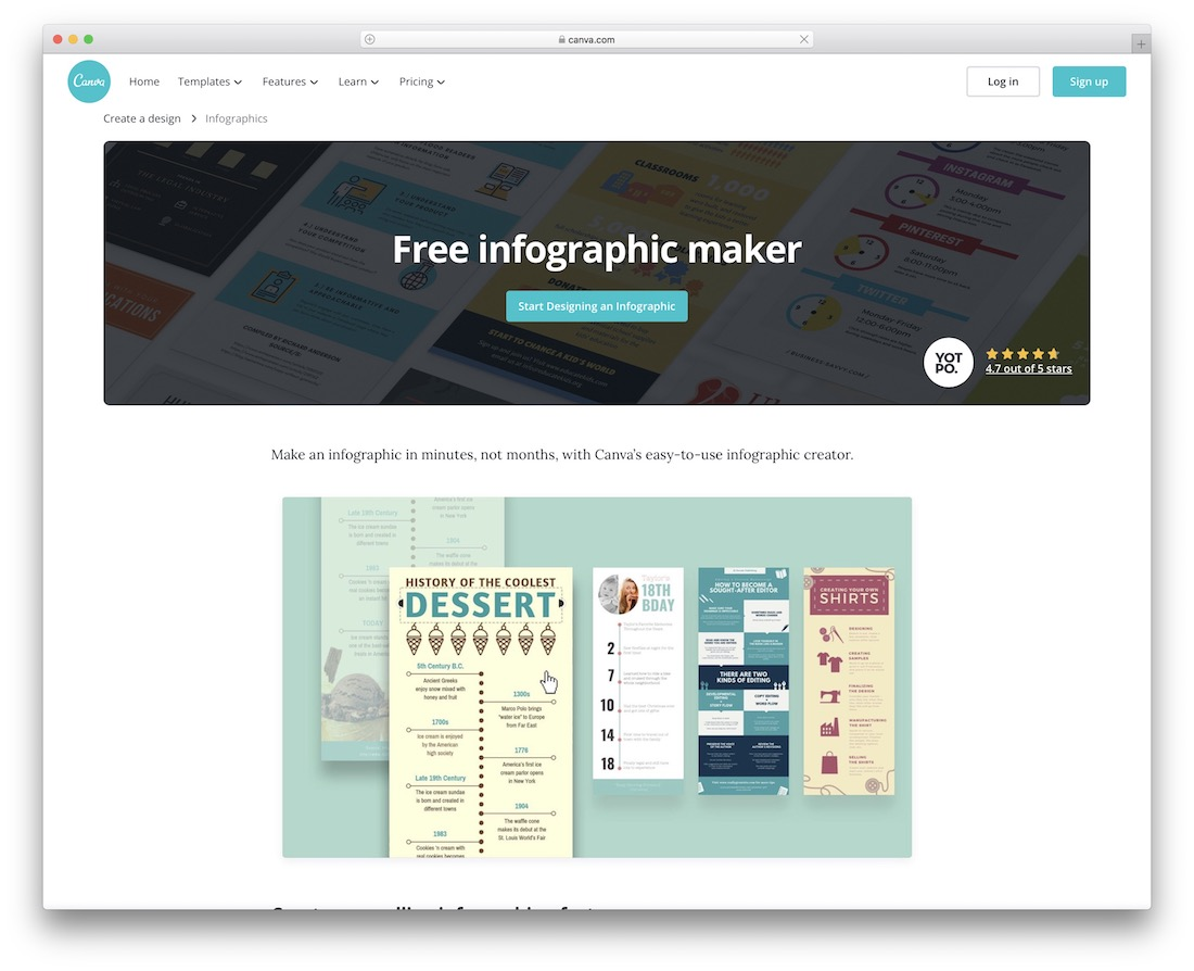 canva tool for creating infographics