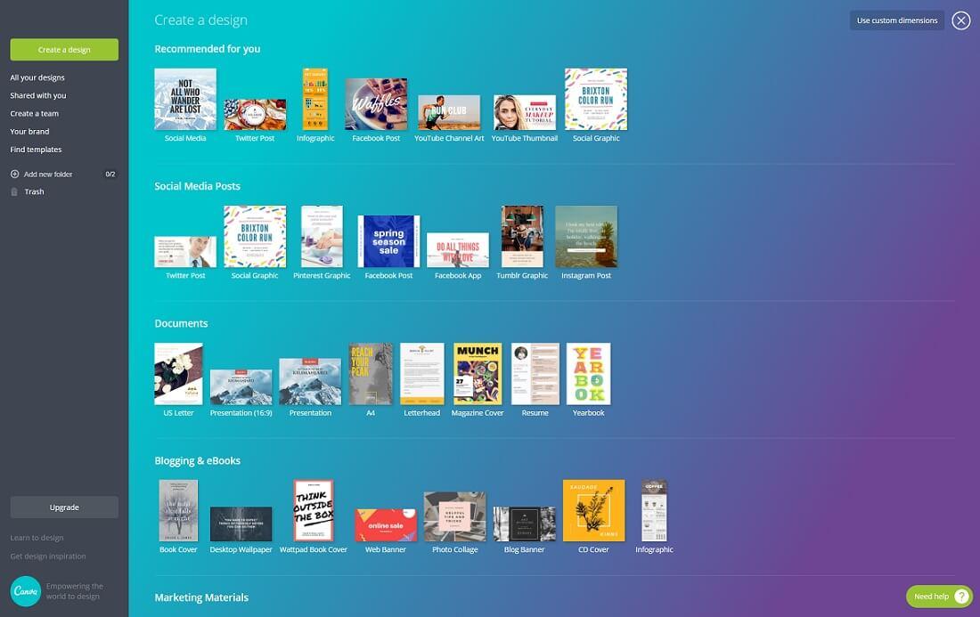 14 Top Free Social Media Graphics Creators 2017 - Colorlib