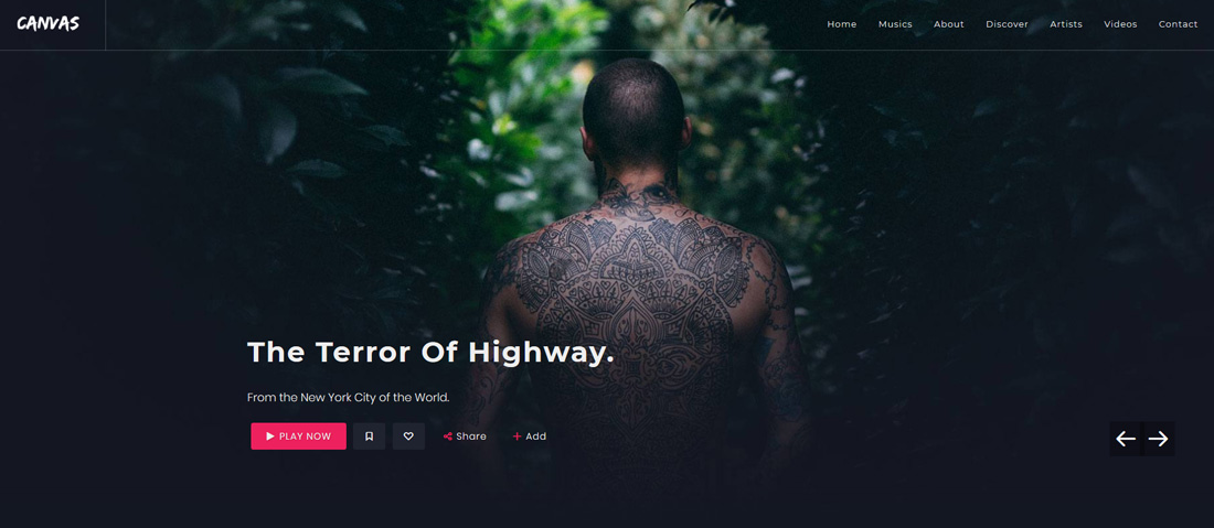 canvas-bootstrap-music-templates