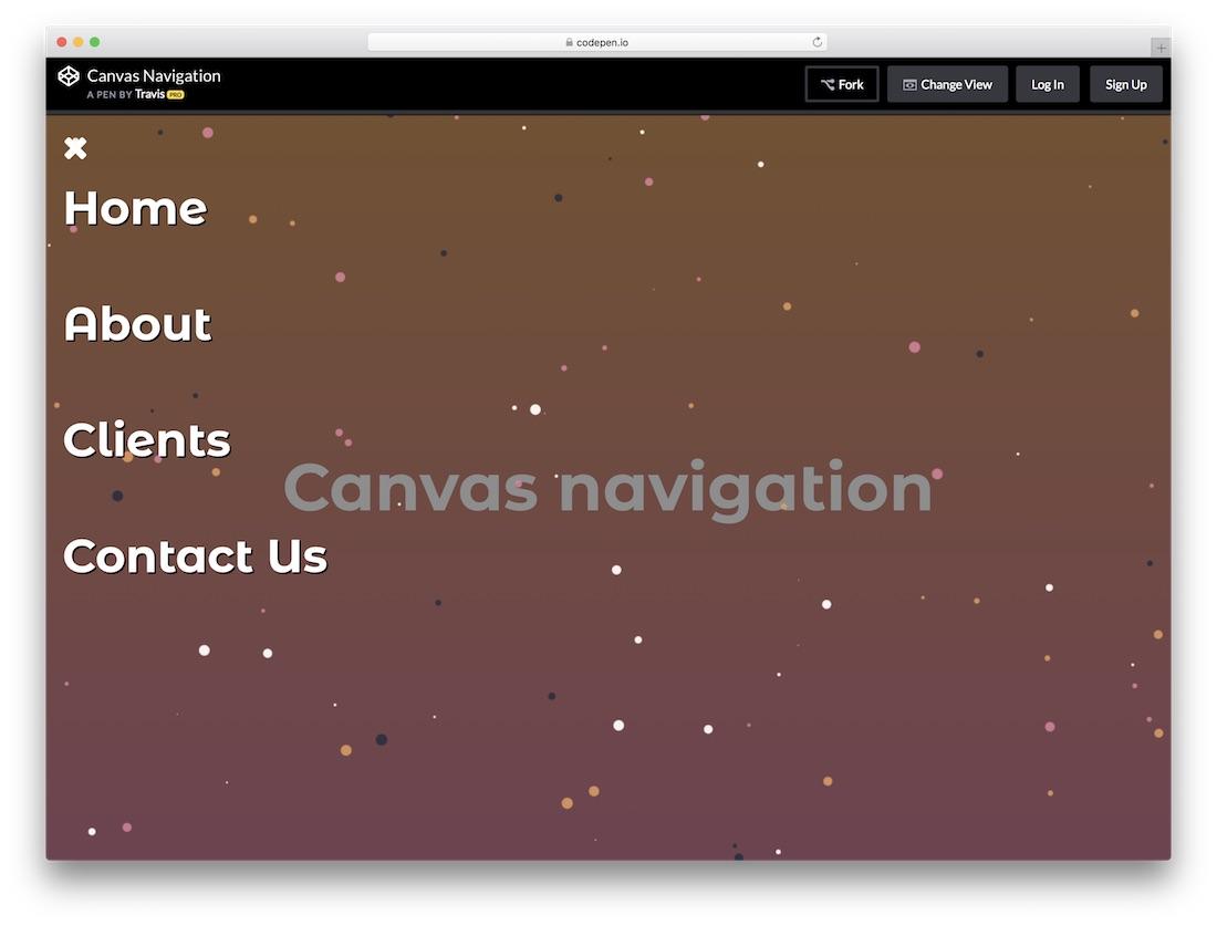 canvas navigation