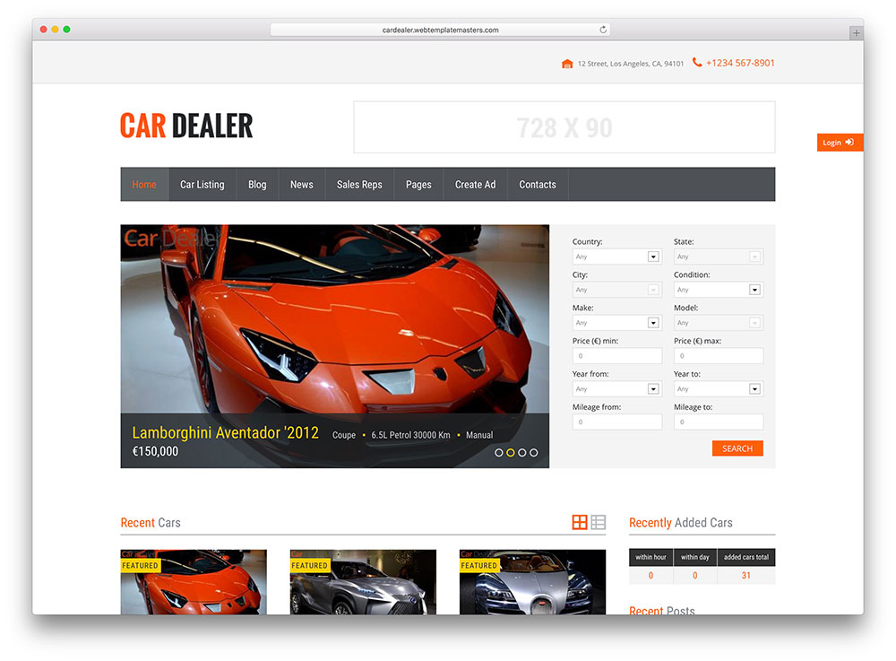 car dealer minimal automotive wordpress thene