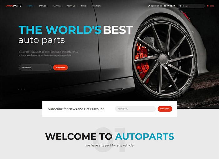 Autoparts | Car Parts Store & Auto Services WordPress Theme