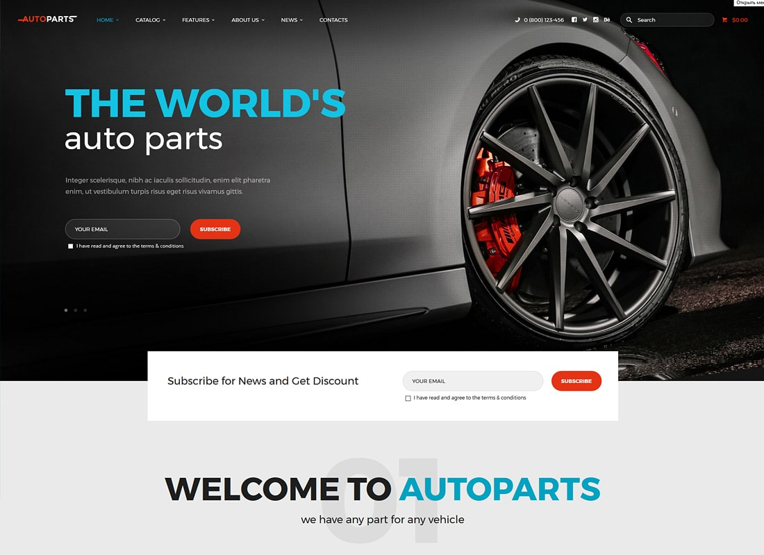 Auto Parts | Car Parts Store & Auto Services WordPress Theme