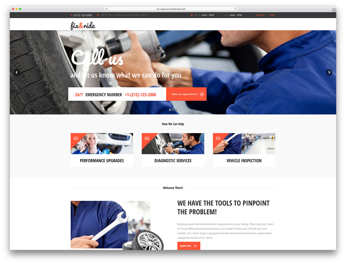 15 Premium Car Repair WordPress Themes
