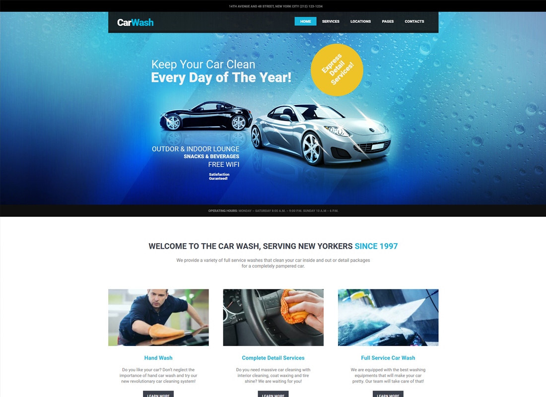 Car Wash, Auto Mechanic & Repair Shop WordPress Theme