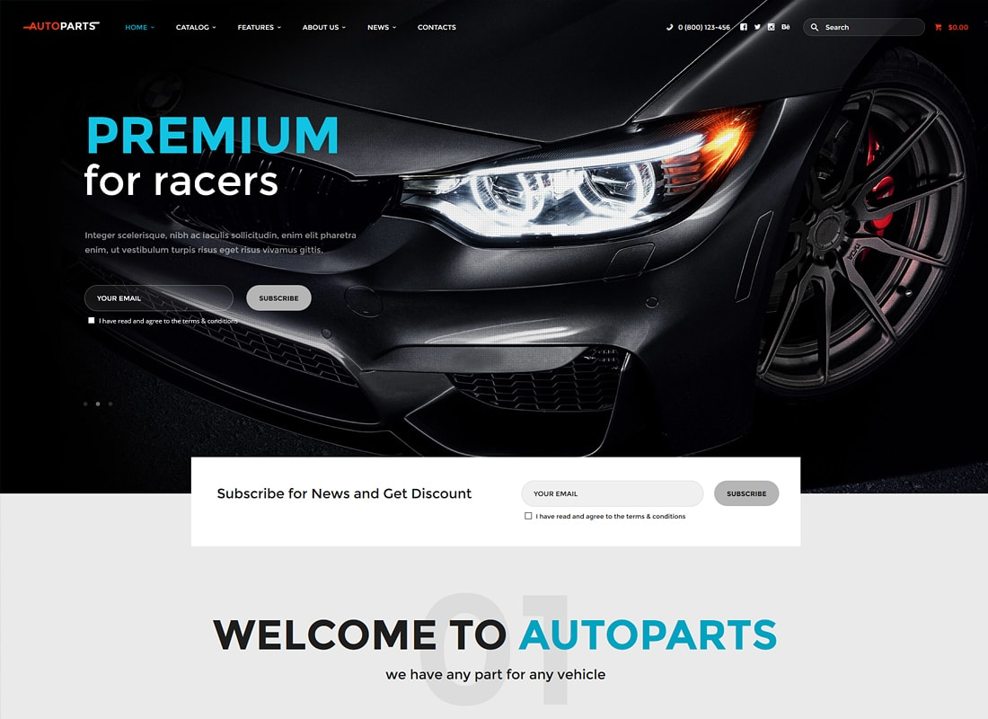 AutoParts | Car Parts Store & Auto Services WordPress Theme