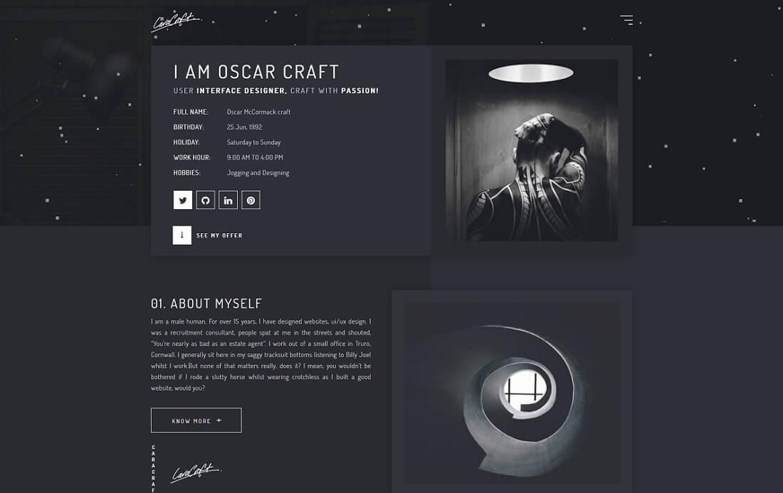 Free Birthday Website Template ~ 21 top mobile ready artist website templates 2018 colorlib