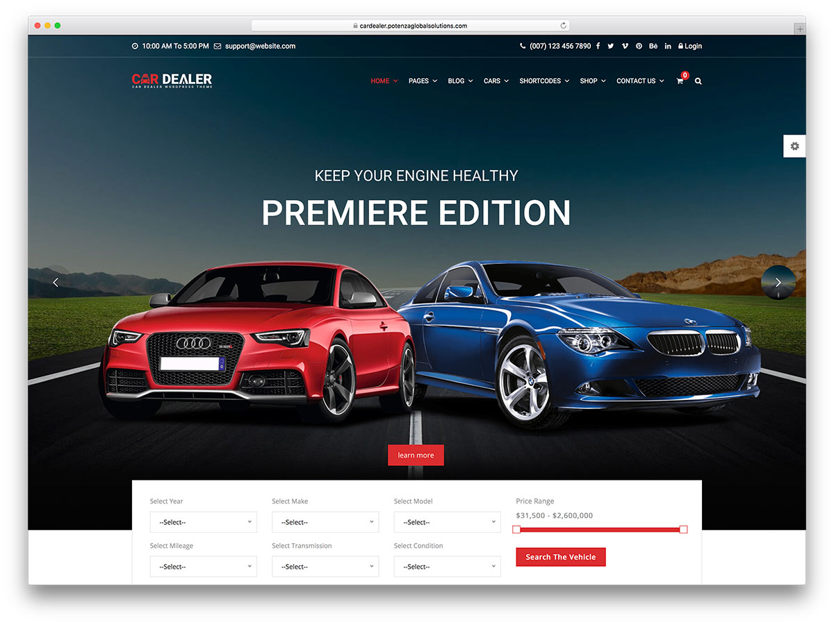 Best car dealer wordpress themes for automotive websites 2017 car dealer is an automotive wordpress theme it is an appealing and flexible tool for any kind of business related to the automotive world magicingreecefo Image collections