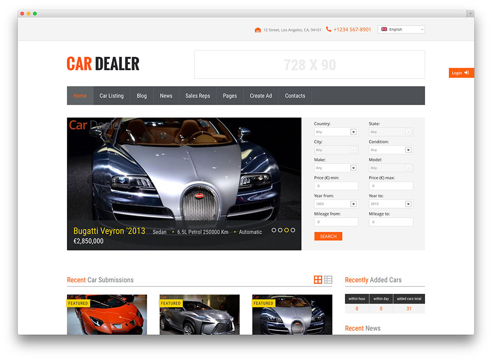Best Car Dealer Wordpress Themes For Automotive Websites 2019 Colorlib