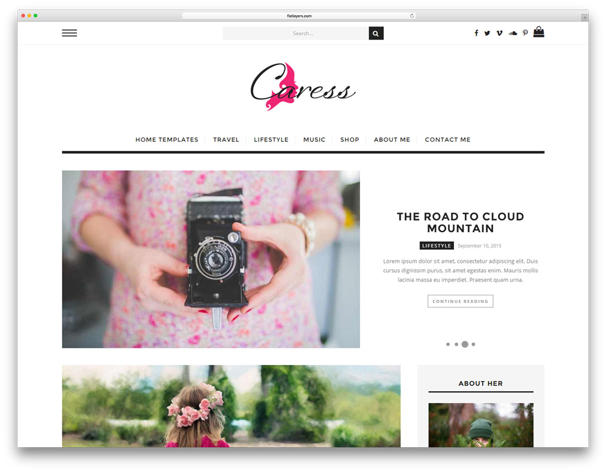 caress-simple-wordpress-blog-theme